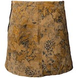 608a92849f 90's Floral Print Leather Mini Skirt by Express