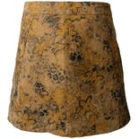 f58c0a6d1c another view of 90's Floral Print Leather Mini Skirt by Express