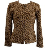 90's Leopard Printed Blazer by Maggy London