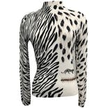 90's Zebra and Leopard Print Beaded Mock Neck Sweater by La Cité
