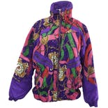 90's Purple Patterned Dolman Jacketby Clipper Bay