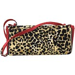 another view of 90's Red and Leopard Print Purse by Stuart Weitzman