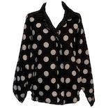 90's Reversible Polka Dot Black and White Jacket