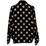 another view of 90's Reversible Polka Dot Black and White Jacket