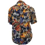 another view of 90's Tropical Floral Print Button Up Blouse by SK Wear