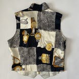 another view of Vintage Paolo Santini Luxury Tings Silk Vest by Paolo Santini