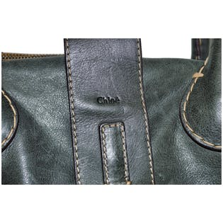 Army Green Bag with Heavy Stitching by Chloe