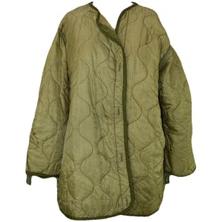 Army Green Quilted Jacket