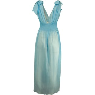 Baby Blue Smock Waist Maxi by Christian Dior