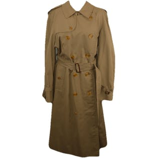 Beige Long Trench Coat by Burberry