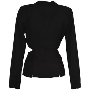 Black Blazer with Side Cut Outs