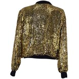 another view of Black Bomber Jacket With Gold Sequins