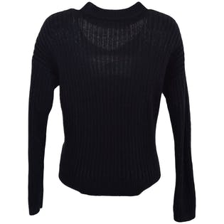 Black Cut-Out Sweater by LA Hearts