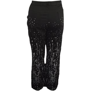 Black Jeans with White Paint Splatter Design by Ashley Stewart