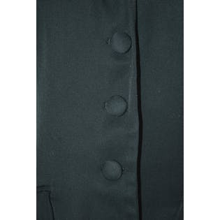 Black Long Vest with Fabric Buttons