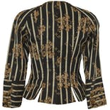 another view of 70's/80's Black Patterned Blazer with Gold Flowers by Christian LaCroix