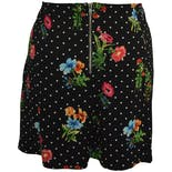 another view of Black Polka Dot and Floral Shorts by Forever 21