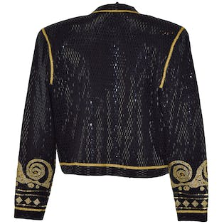 Black and Gold Knit Jacket by St. John