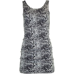 Black and White Animal Print Dress by H Divided