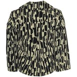 another view of Black and White Printed Coat