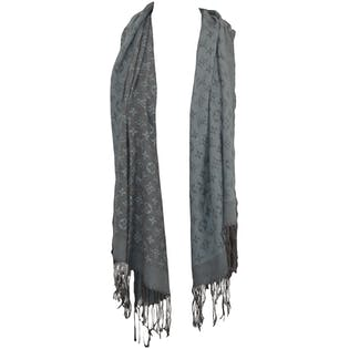 Blue Printed Scarf by Louis Vuitton