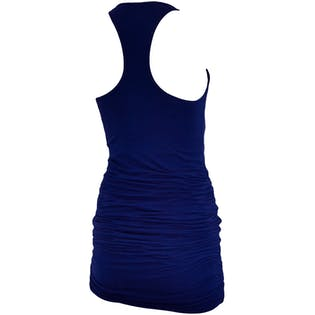 Blue Ruched Dress