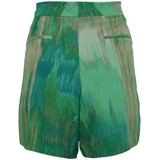 Blue and Green Printed Shorts