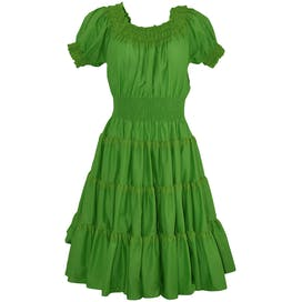 Bright Green Off the Shoulder Tiered Dress by Partners Please