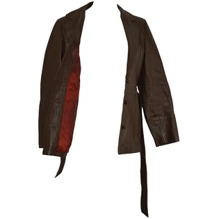 Brown Faux Leather Blazer by Mont