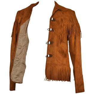 Brown Suede Western Jacket