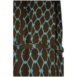 Brown and Teal Pattern Dress with Matching Belt by Premiere Row