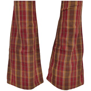 Burgundy Plaid Bell Bottoms by H bar C