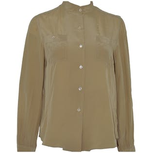 Camel Silk Blouse by British Crown Colony.