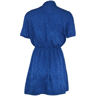 Cobalt Cinched Waist Short Sleeved Dress by Impromptu