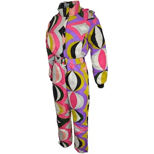Colorful Ski Suit with Belt by Emilio Pucci