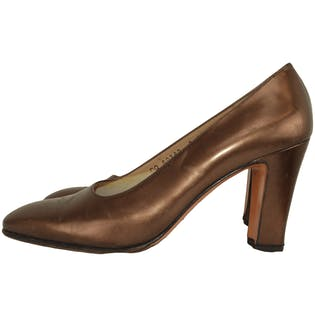 Copper Heels by Salvatore Ferragamo