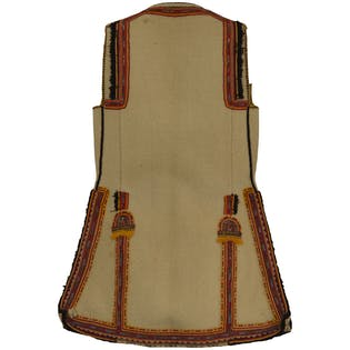 60's/70's Cream Vest with Multicolor Embroidery