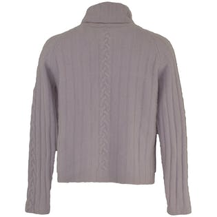Cropped Lavender Cashmere Turtleneck by A. Giannetti