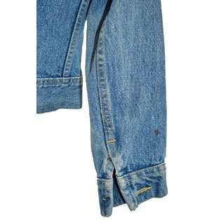 Cropped Medium Wash Denim Jacket by Lee