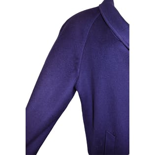 Deep Purple Wool Coat by Cassidy