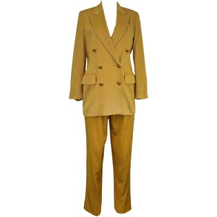 Yellow Pant Suit by Escada