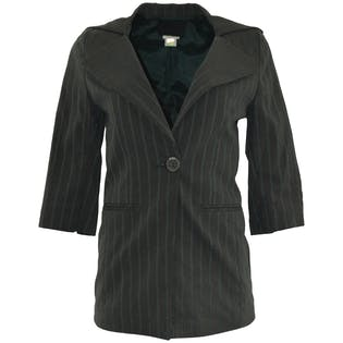 Dark Gray Blazer with Stripes