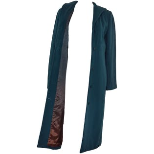 Dark Teal Wool Coat by Tocca