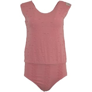 Distressed Pink Bodysuit by Adidas