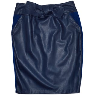 Faux Leather Skirt by Melissa McCarthy