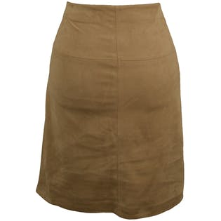 Faux Suede Fitted Mini Skirt by Max Studio