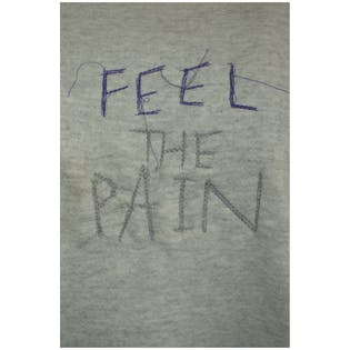 Feel The Pain Embroidered Crewneck by Tultex