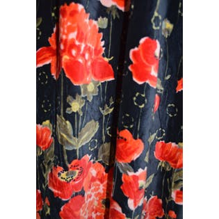 Floral Velvet and Sequin Maxi Dress by Gus Mayer