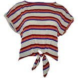 Front Tie Striped Tee