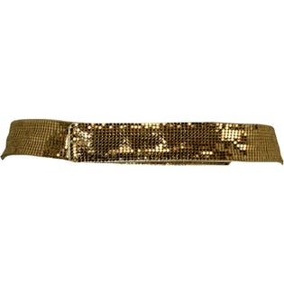 Gold Metallic Belt with Front Bow Design